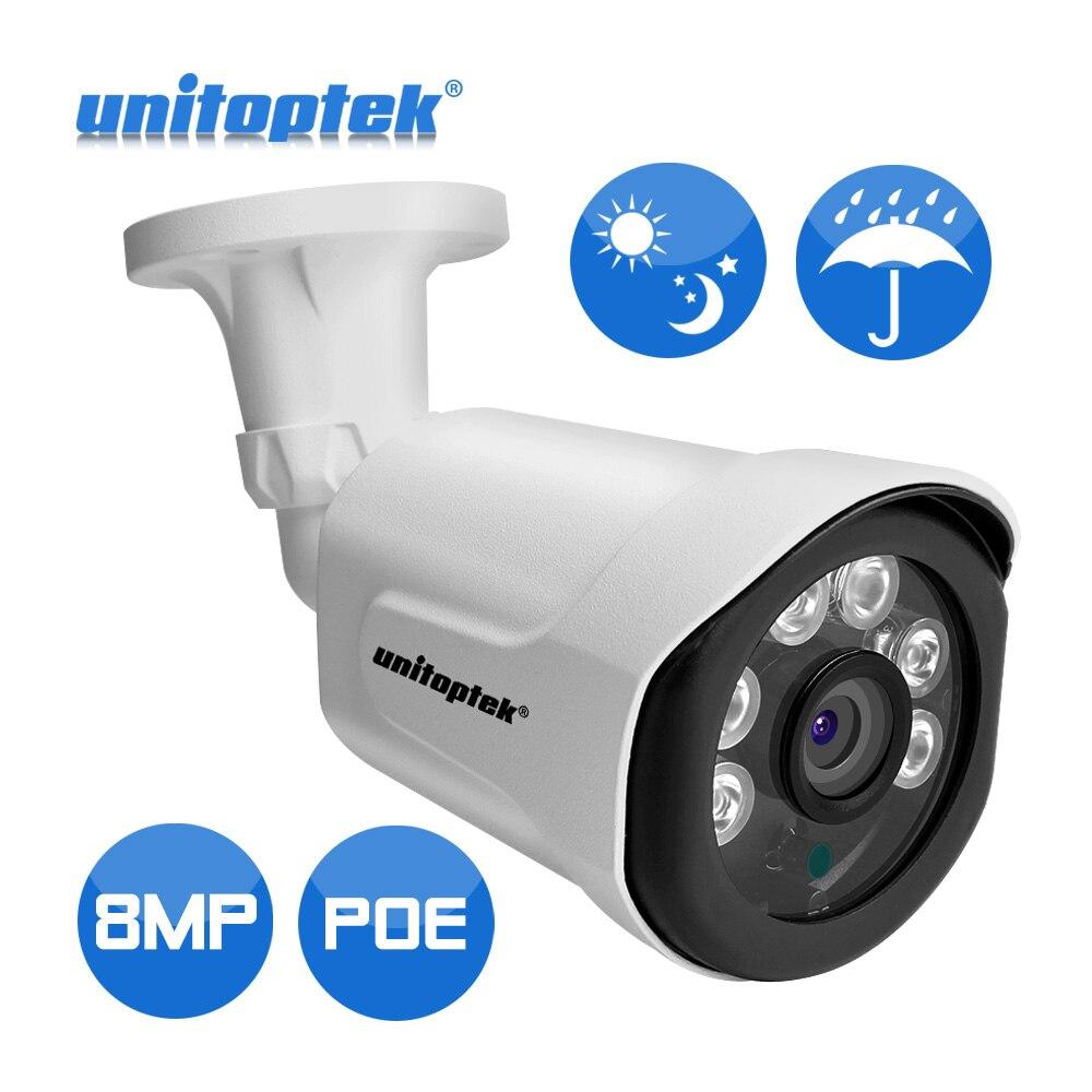 48 v POE Ultra HD Bullet IP Caméra Extérieure 8MP 4 k de Sécurité de Surveillance Vidéo Caméra IP IR Night View détection de mouvement Alerte Record