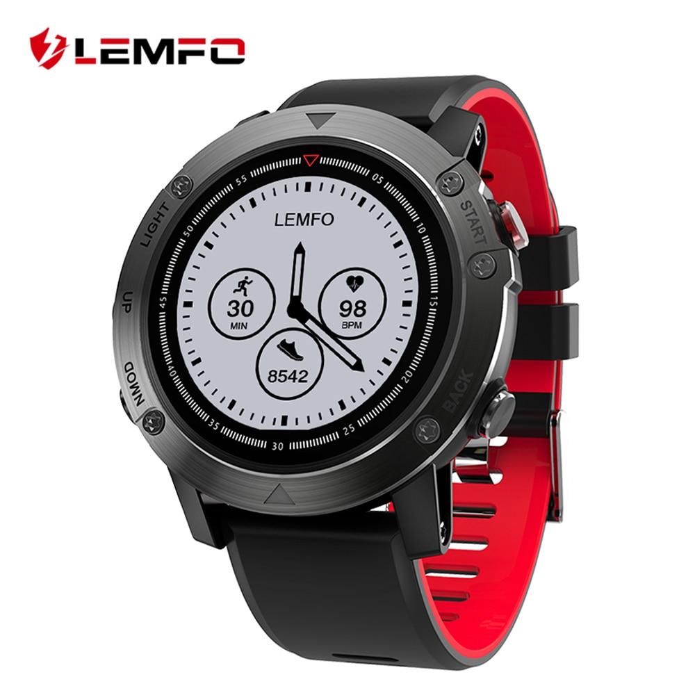 все цены на LEMFO LES3 Smart Watch Heart Rate Monitor Smartwatch Smart Watch GPS Waterproof Multi Sport with Compass & Back Light онлайн