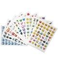 9 Folhas 432-Style Bonito Emoji Sorriso Rosto da Etiqueta Do Telefone Móvel para Notebook Mensagem Alta Vinil Engraçado Criativo