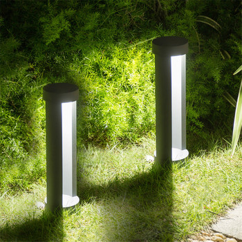 Thrisdar Modern Garden Post Lawn Lamp Waterproof Villa Park Gateway Courtyard Bollards Lawn Light Outdoor Pathway Pillar Lamp