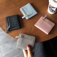 Leather Unisex Time limited Lady New 2018 Contracted Mini Wallet Female Han Edition Hustle Buckles Twenty Percent Short Slim