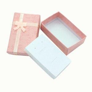 Image 4 - 32 sztuk pudełka na prezenty papierowe na opakowanie na biżuterie 5*8*2.5cm pierścień kolczyki naszyjnik uchwyt wyświetlacz nowy rok boże narodzenie/prezent ślubny
