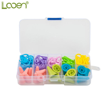 Mult 60pcs Plastic Knitting Crochet Holder Needle And 20pcs Soft Silicon Knitting Needle Cover DIY Craft Weave Tools Accessory