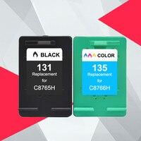 131 135 Bijgevuld Inkt Cartridges Vervanging voor hp 131 135 voor hp Photosmart C3100 C3183 C3150 C3180 PSC1500 1510 1513 1600