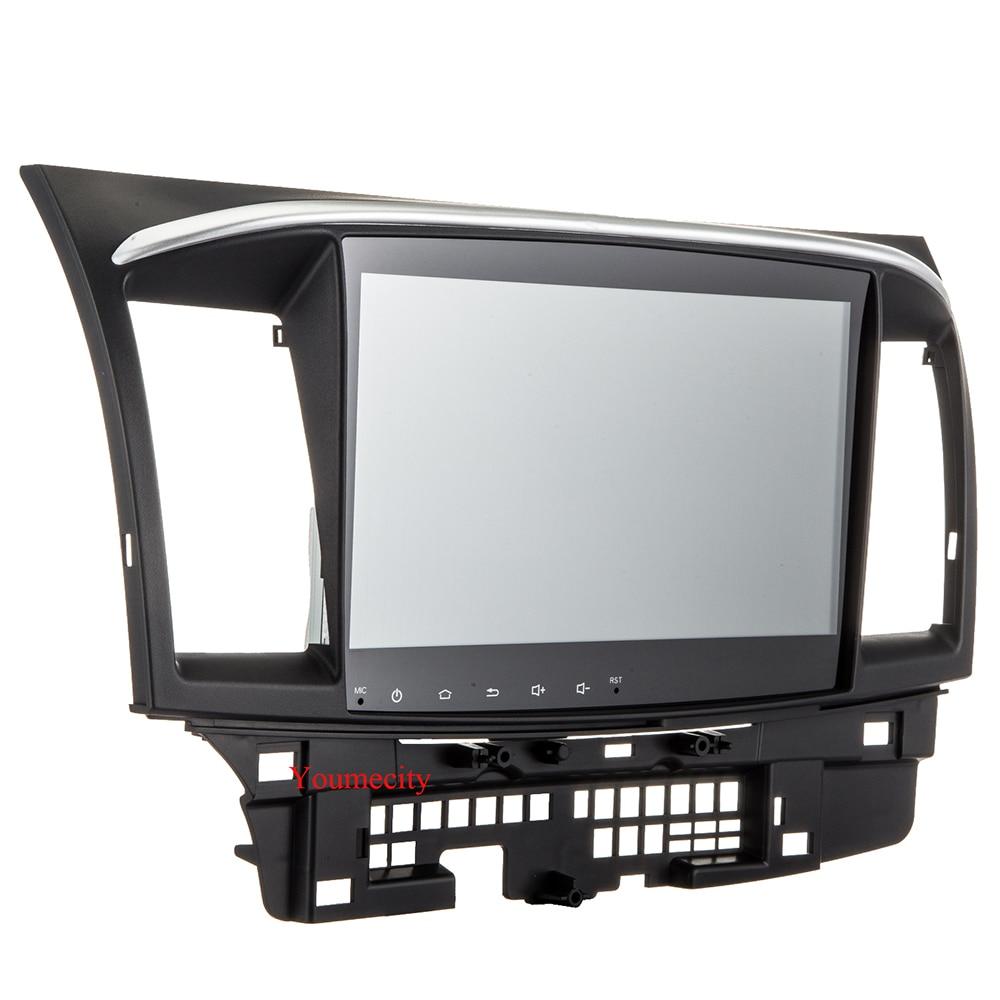 1024*600 喧騒車の 10.1 三菱ランサーラジオビデオプレーヤー容量性スクリーン 5