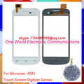One World Original Quality For Micromax A091 Touch Screen Digitizer Touch Sensor Glass Panel Free Shipping