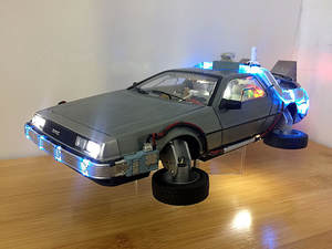 Car-Model Back-To-The-Future Gift Classic 1:18-Scale DMC12 Led-Light Edition Tire Reversible