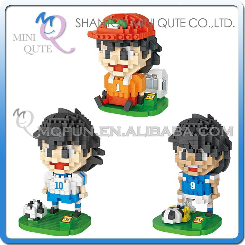 Mini Qute LOZ anime cartoon Captain Tsubasa football player block plastic building block bricks model education educational toy
