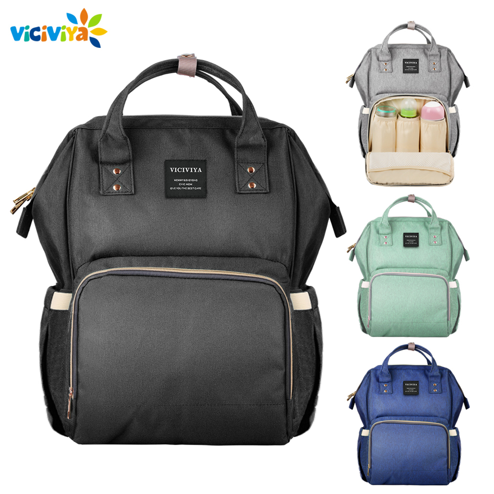 Viciviya New Arrival Mummy Maternity Bag Large Capacity Travel Backpack Nursing Baby Care Bag VS Land and Lequeen Diaper Bag
