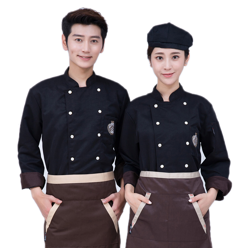 Classical 3-Cloor Chef Clothing Long-sleeve Autumn&Winter Restaurant Hotel Man And Woman Jacket Cook Suit Uniform