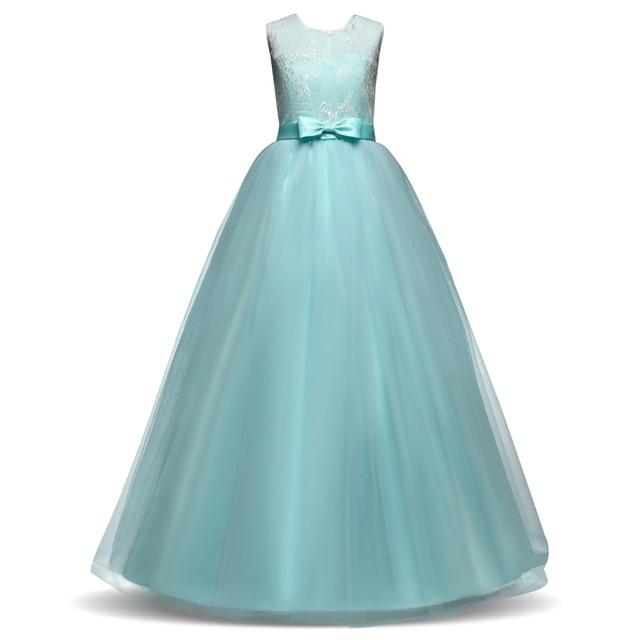 Kinder Mädchen Blume Kleider für Hochzeit Lange Kleider Prinzessin ...