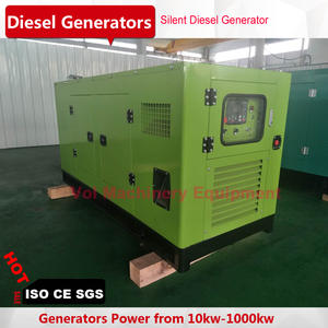 silent 75kw diesel generator with six cylinder diesel engine