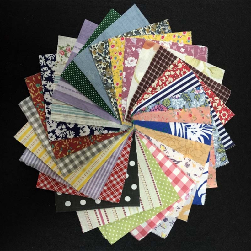 50Pcs/lot New Cotton Fabric Bundle Patchwork Quilting Sewing Crafts Scrapbook Approx 10*10cm Random Style