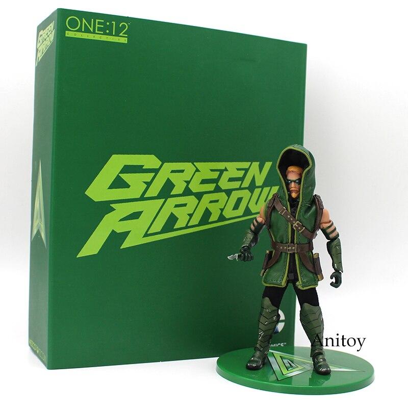 MEZCO DC COMICS Green Arrow 1/12 Scale PVC Action Figure Collectible Model Toy 17cm neca dc comics batman arkham origins super hero 1 4 scale action figure