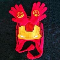 Hot Cap Gloves Winter Hat Children Cartoon Hats China Red Glove Sets Fashion Baby Kids Warm