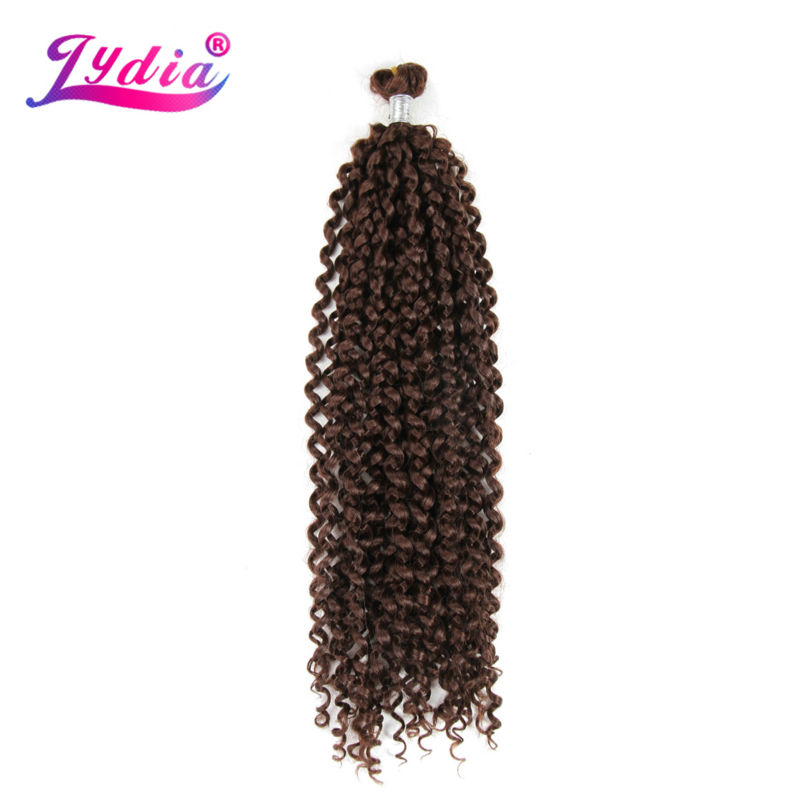 "Lydia Freetress Synthetic Bohemian 28""Pure Color 33# Crochet Braid Hair Extensions Bulk Crochet Latch Hook Braiding Hair"