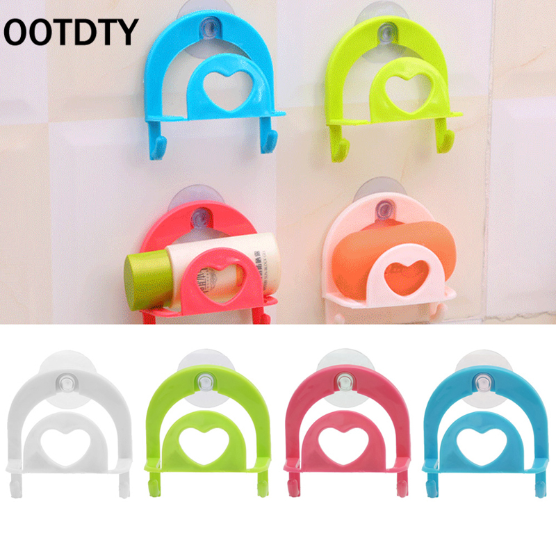 OOTDTY Kitchen Sucker Dishcloths Storage Kitchen Utensils Gadget Dish Cloth Sponge Suction Cup Wall Box Holder Mount Sink Tub