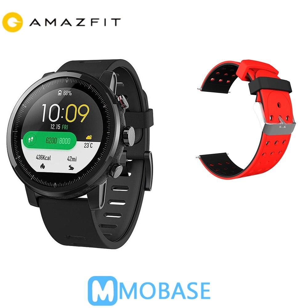 Spanisch Schiff Huami Amazfit 2 Amazfit Stratos Tempo 2 GPS Smart Uhr Männer Uhren PPG Herz Rate Monitor 5ATM Wasserdicht