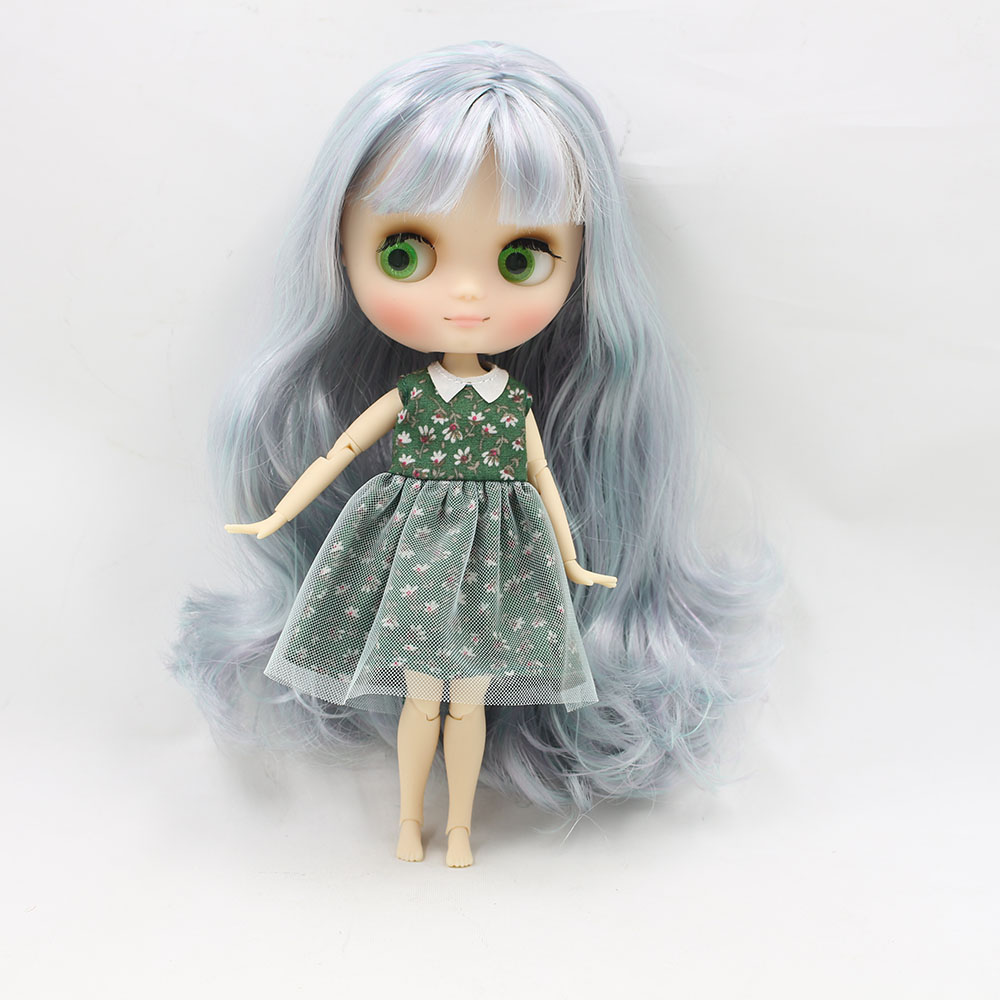 No.40061049 Nude middie blyth joint doll 20cm high Transparent face suitable DIY gift for girl like the icy doll middle blyth