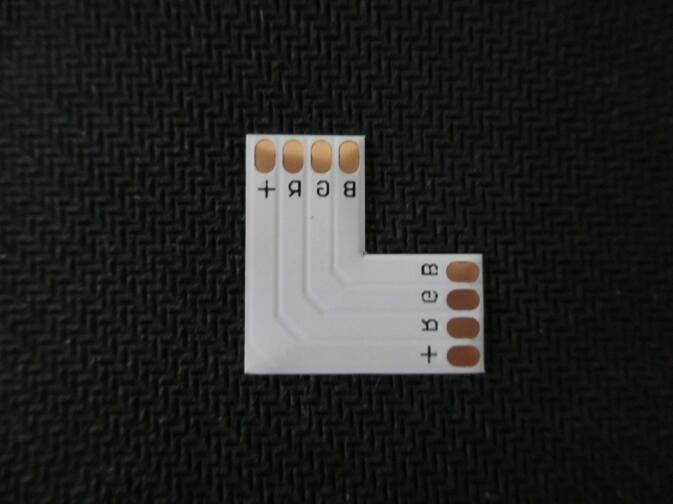 10 шт./лот 4 pin Светодиодный разъем L Форма для 10 мм 3528 ...