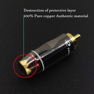 Image 2 - Hifi Amplifier RCA Cable Audio TV AMP DAC Wire 6N OFC Line 4 RCA Connector Professional For MP3 DVD Player