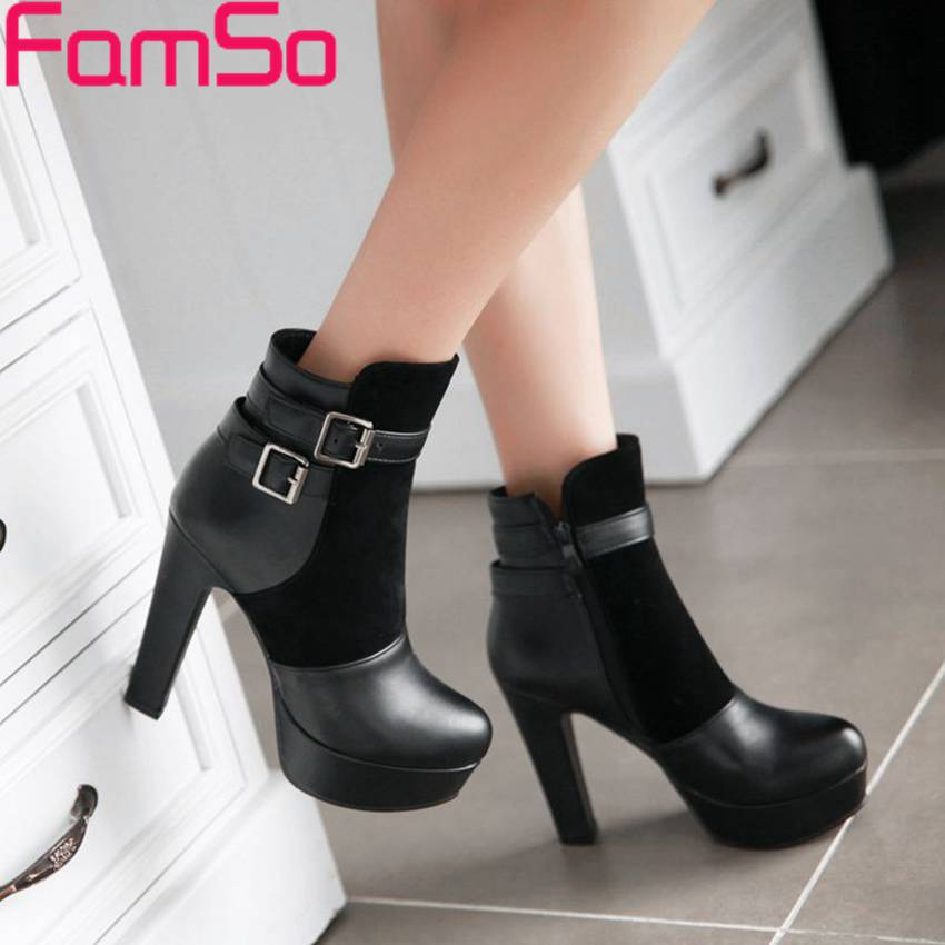 Free shipping 2015 New Sexy font b Women b font Pumps Buckle Autumn Short High Heels