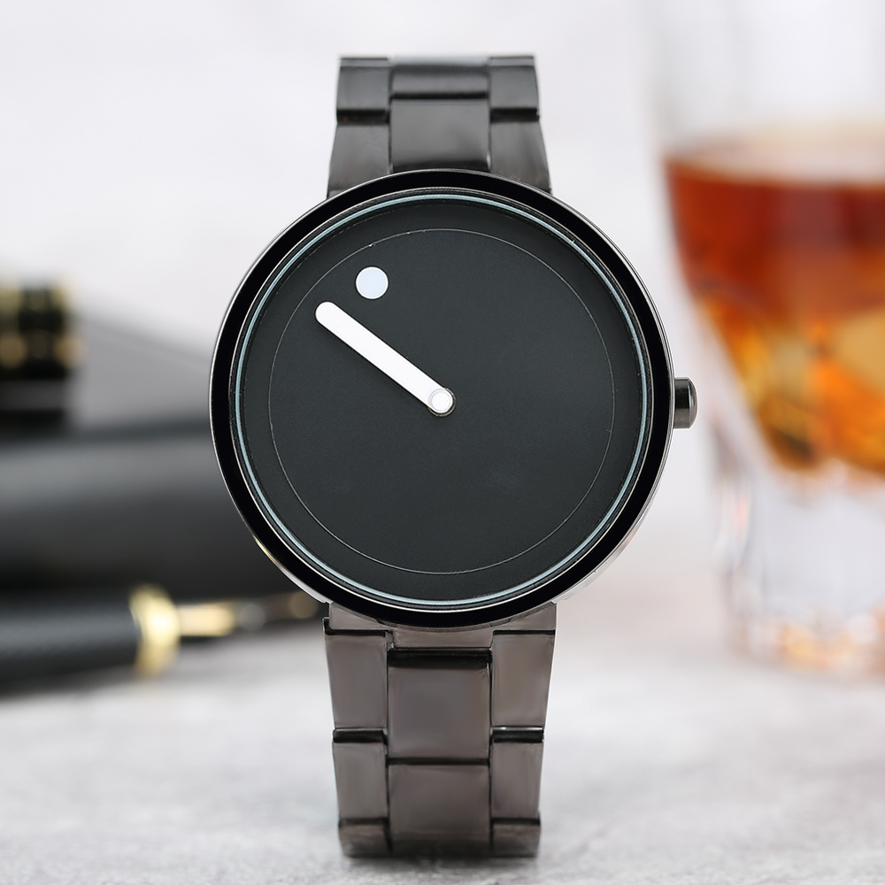 PAIDU Brand Casual Simple Men Women Quartz Wristwatch Stainless Steel Band Black White Round Dial Male Ladies Clock Best Gift simple fashion hand made wooden design wristwatch 2 colors rectangle dial genuine leather band casual men women watch best gift