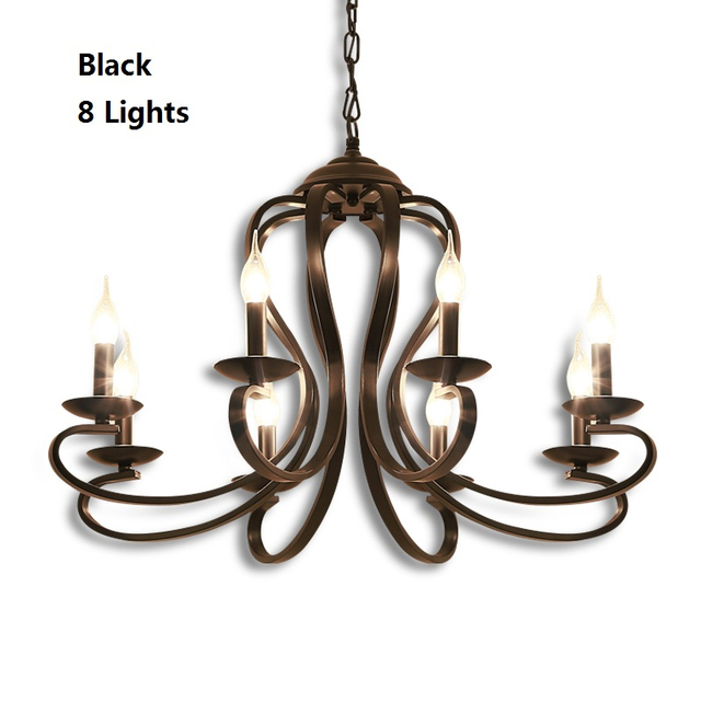 American Country Style Lighting Fixture Chandelier For Bedroom Dinning Room Vintage Lamp Res Retro Suspension Luminaire
