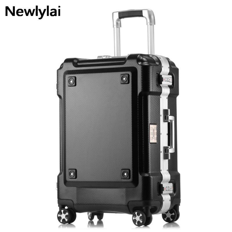 Grind arenaceous aluminum frame stick box universal wheel luggage suitcase 20/24/29 inch ...