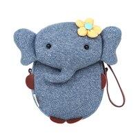 جديد الأطفال أكياس الكرتون لطيف الفيل مصغرة يد للفتيات الفتيان القطن الخالص الحيوانات الاطفال الطفل حقائب اليدوية محدود