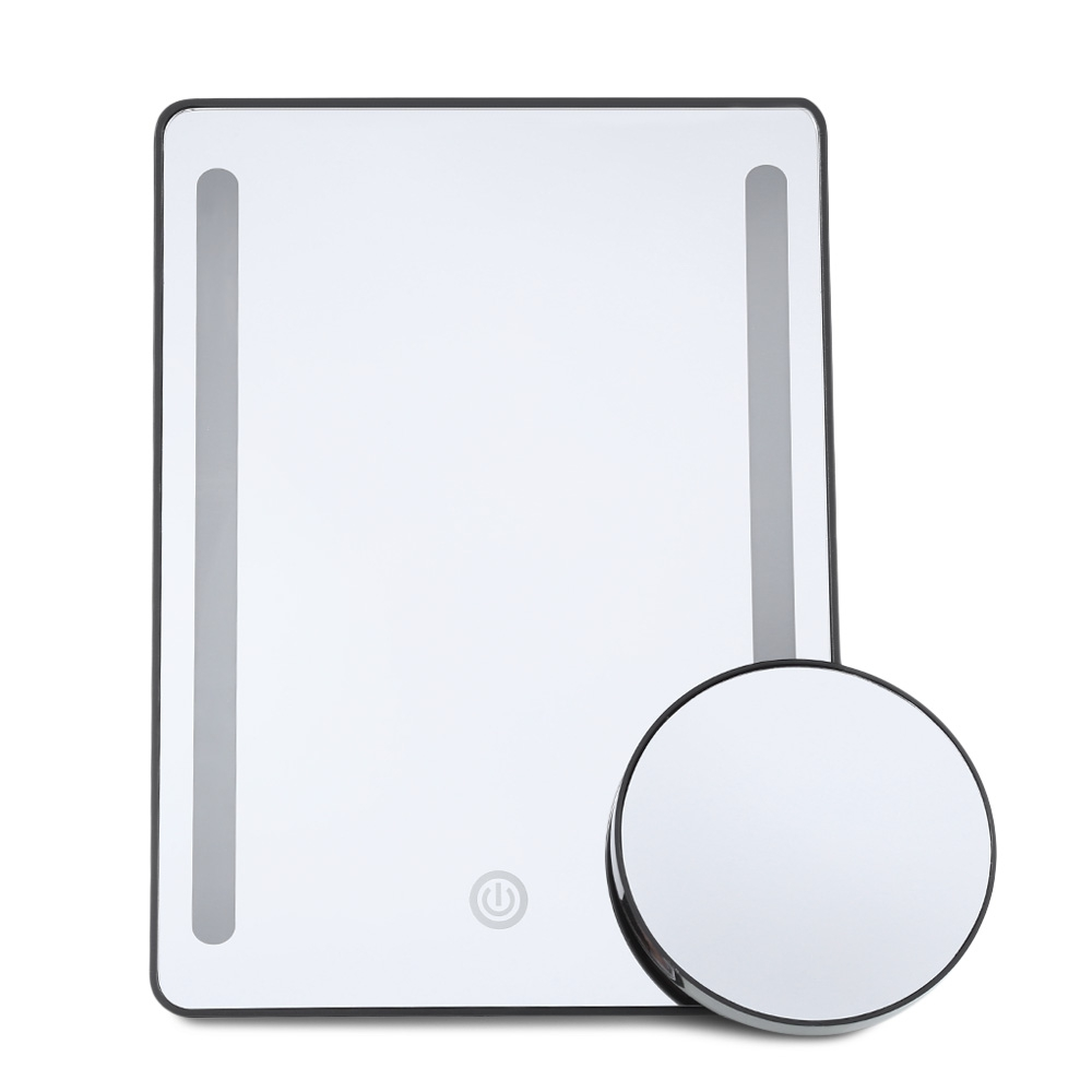 LED Makeup Mirror Cosmetic 10xMagnifier Mirror with Touch Switch ...