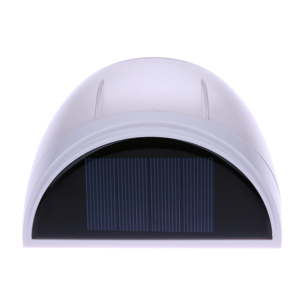 8LEDs Solar Power Garden Wall Light Waterproof IP55 Outdoor Garden Fence Street Lamp Lawn Lamp With Solar Charging 18X102X64mm 14