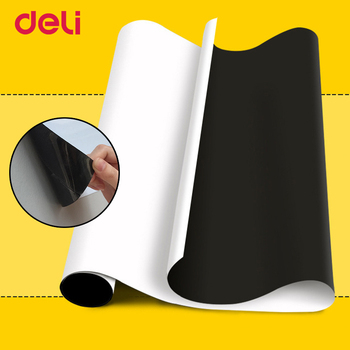 Deli Magnetic Whiteboard Soft Iron Wall Sticker Office Message Erasable Whiteboard Paper Painting Whiteboard Sticker Free Cut 1