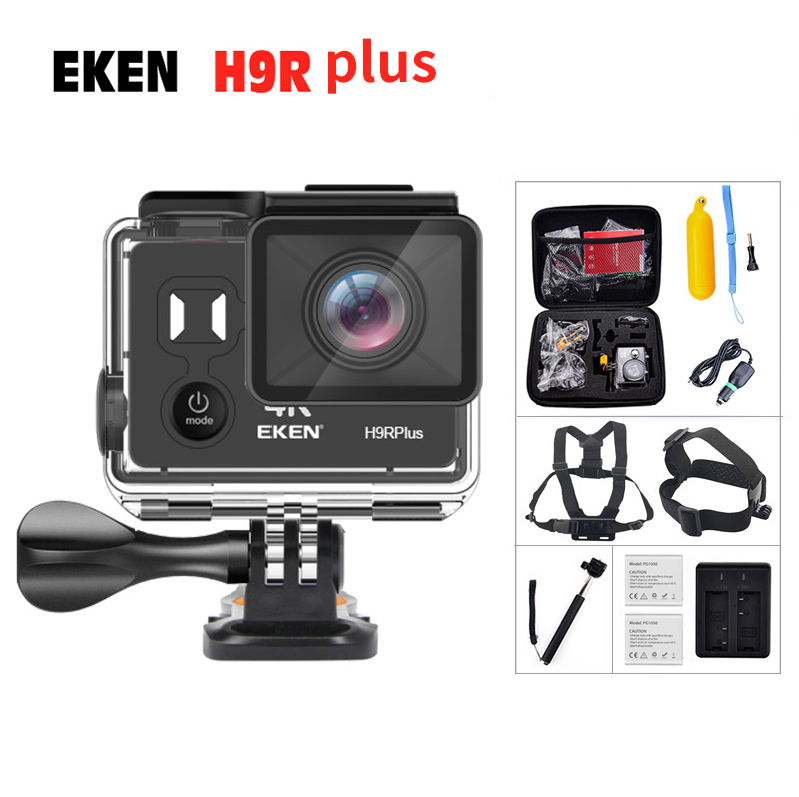 Original EKEN H9R Plus Ultra 4K 30FPS Action Camera 30M waterproof 2 Screen 1080p 60fps 14MP underwater go extreme pro sport cam action camera eken h8 pro ultra hd 4k 30fps h8r 1080p 60fps original remote controller pro cam go waterproof sport camera dvr