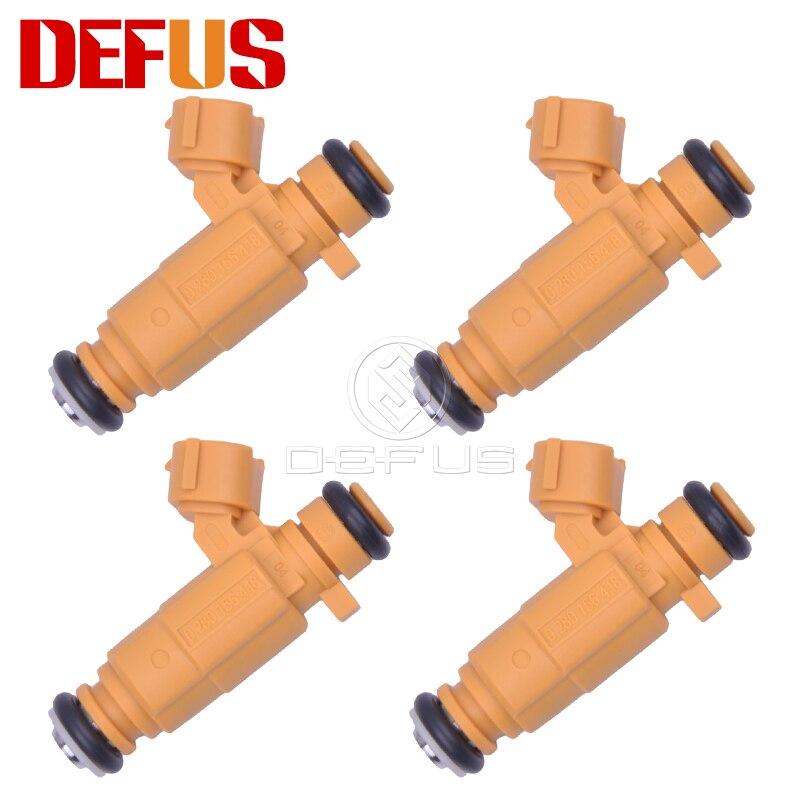 DEFUS 4x 0280156418 Fuel Injector Bico For Nissan Livina Grand Livina Tiida 1.8 16V Flex 09 0 280 156 418 Injection Value Nozzle