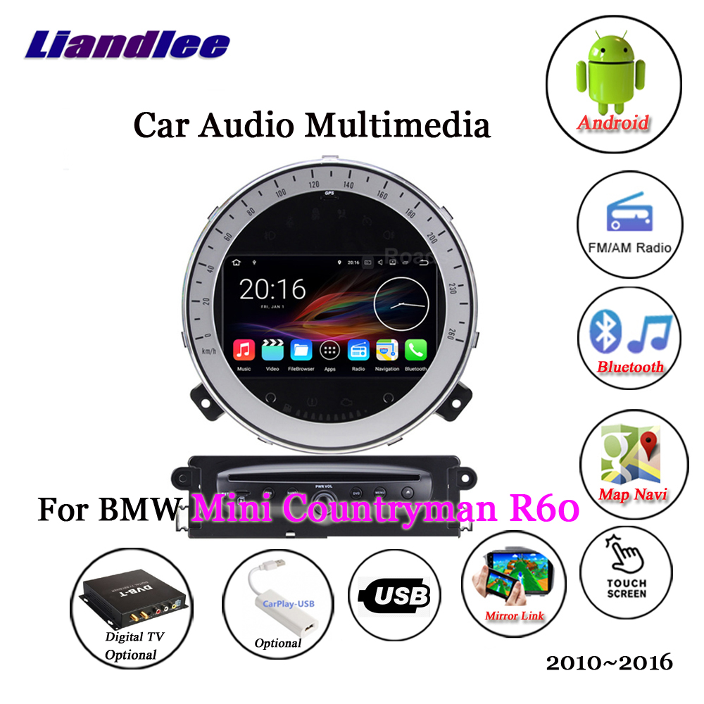 Liandlee pour BMW Mini Countryman R60 2010 ~ 2016 Android Radio stéréo caméra Carplay TV numérique GPS carte Navi Navigation multimédia