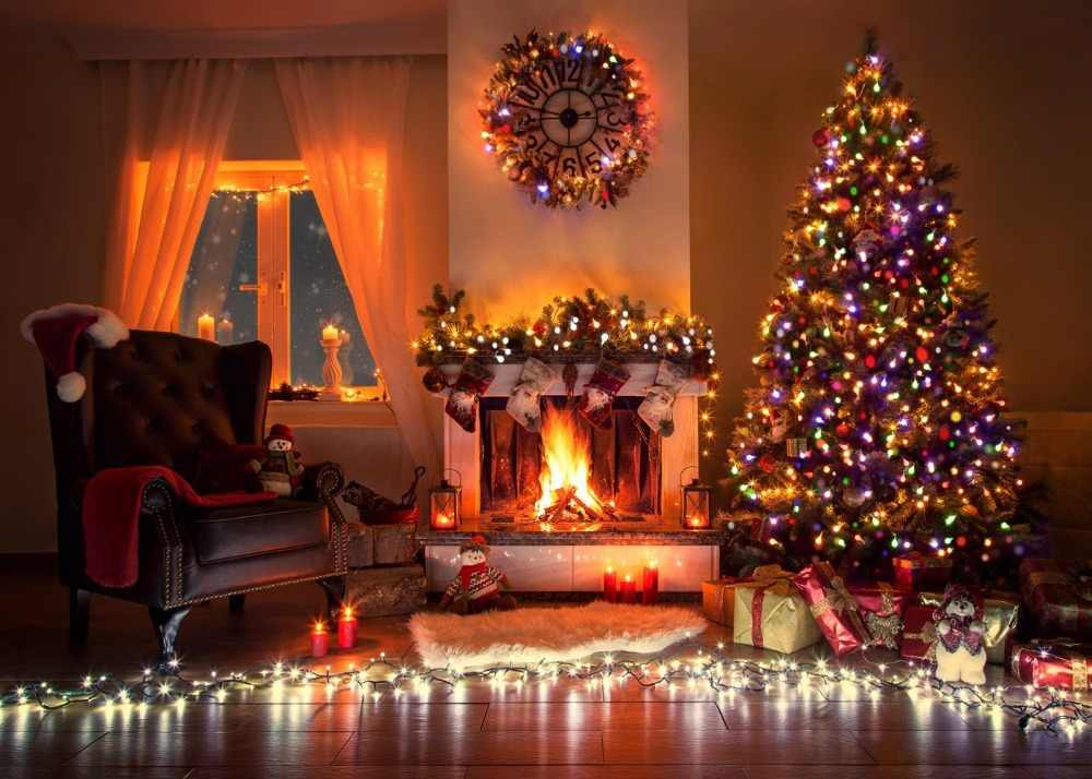 capisco christmas tree fireplace gift interior scenic. Black Bedroom Furniture Sets. Home Design Ideas