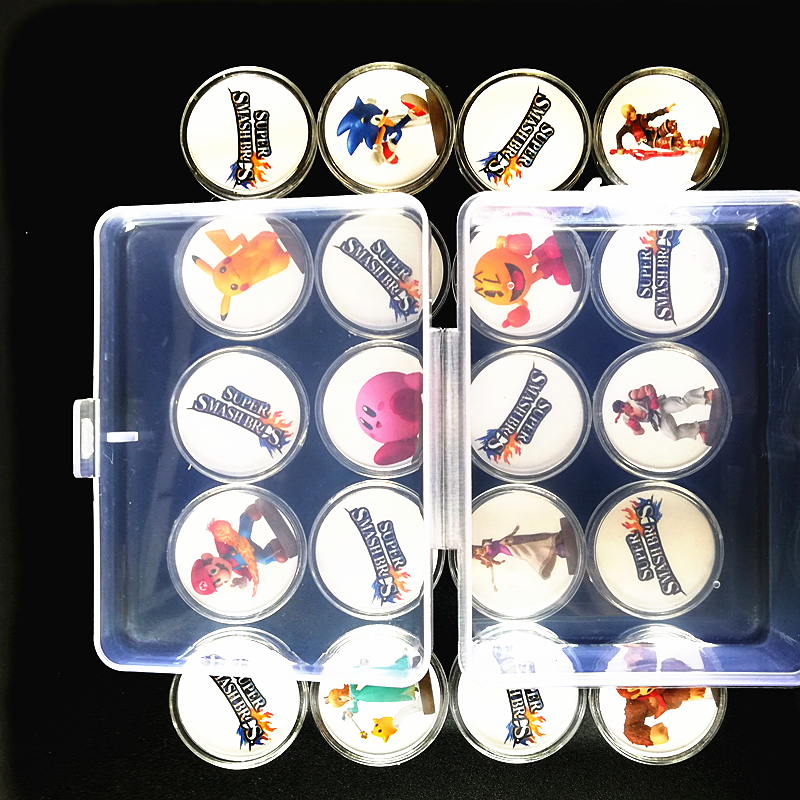 A Set Of 20Pcs Collection Coin Tag For Amiibo Super Smash Bros Data Setting Ntag215 NFC Card Tag Sticker Printed NS Switch Wiiu