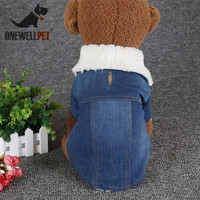 Winter Coat Pet Clothes Hole Cowboy Jean Clothe for Small Dogs Winter Chihuahua Dog Jacket Factory Direct Sale Dog Vests Apparel