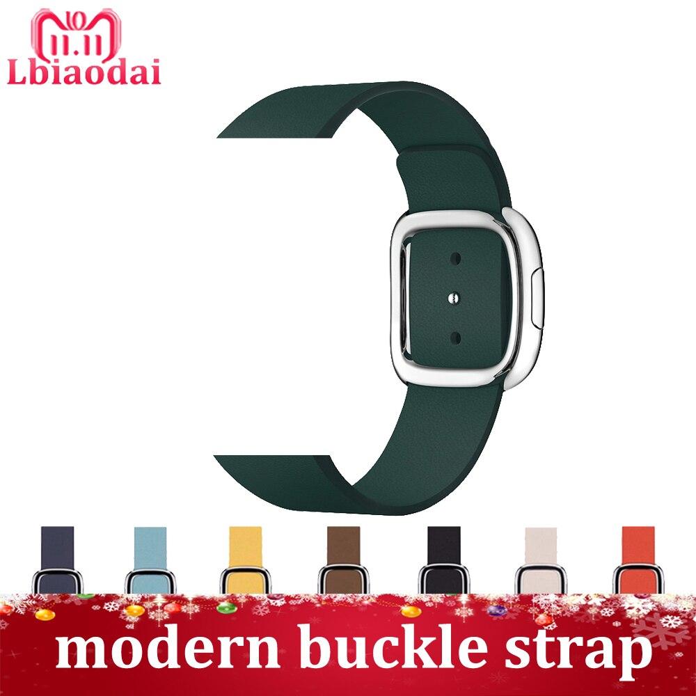 Cinturino In vera Pelle per apple watch band 42mm 38mm 44mm 40mm iwatch 4 3 2 1 moderna fibbia braccialetto da polso cinturino correa cintura