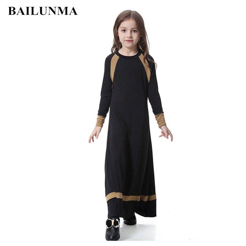 Kids islamic dress girl indonesia clothing arab female dress long muslim skirts children abaya girls abaya Одежда