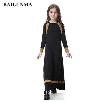 bbd07e8391 Niños islámico vestido de niña indonesia ropa árabe vestido de mujer largo  musulmana faldas niños abaya chicas abaya