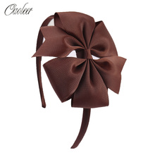 Oaoleer Hair Accessories Ribbon/Sequins Headbands for Girls Floral Hoop Handmade Kid Band On Sales
