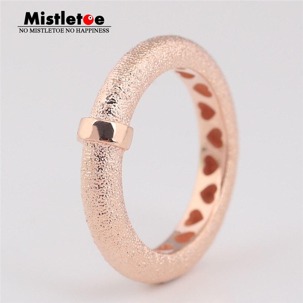 Mistletoe 925 Sterling Silver Matte Brilliance Ring, Mistletoe Rose European JewelryMistletoe 925 Sterling Silver Matte Brilliance Ring, Mistletoe Rose European Jewelry