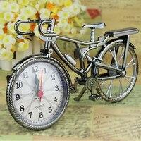Ev Bahçe Yeni Vintage Arapça Sayısal Bisiklet Şekli Yaratıcı masa alarmı saat ev dekoru|clock artwork|decorative kitchen wall clocksclock rhythm -