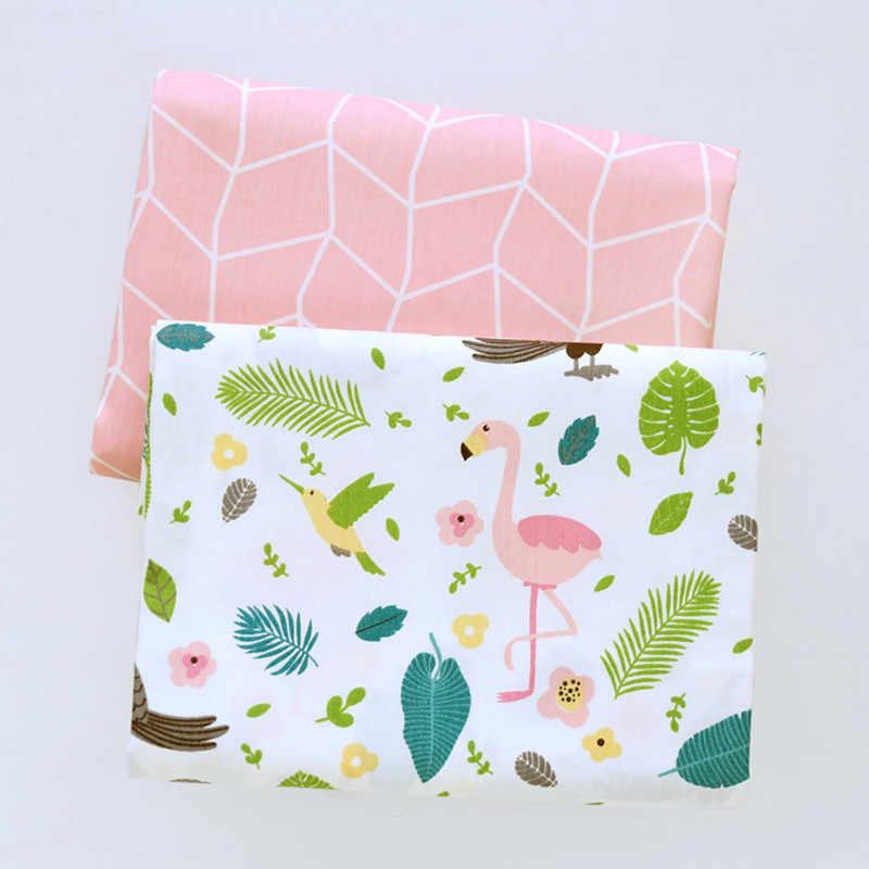 160 cm * 50 cm Flamingo cor de rosa dos desenhos animados infantil folha de tecido de algodão do bebê berço cama do miúdo DIY trabalhos manuais decoração patchwork tecido caixa de tecido