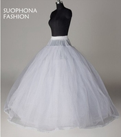 New Arrival White 8 Layer Tulle Without Hoops Wedding Dress Petticoat Jupon Mariage Underskirt Halloween Wedding