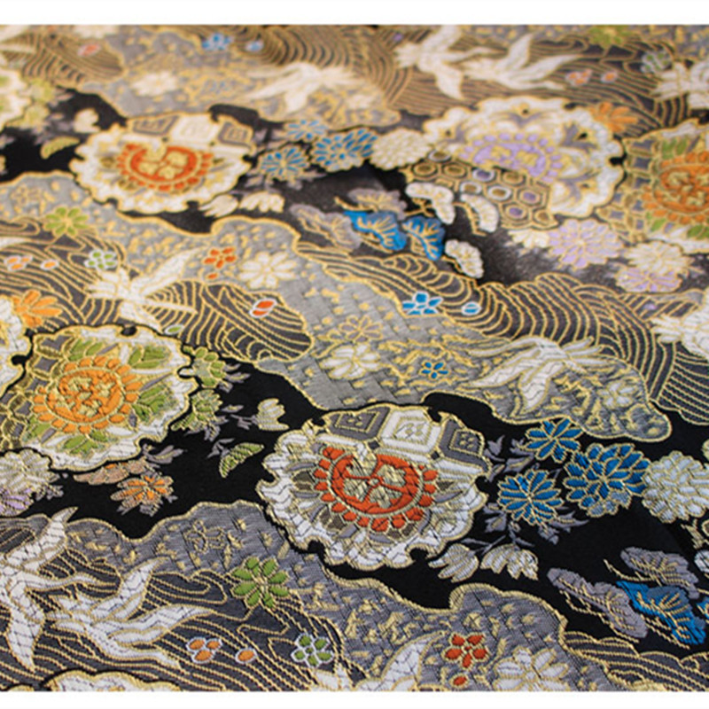 CF527 1 meter Die Kran Jacquard Nishijin Brokat Chinesischen Qipao Cheongsam/Japanischen Kimono Kleidung Stoff DIY Nähen Tuch-in Stoff aus Heim und Garten bei  Gruppe 1