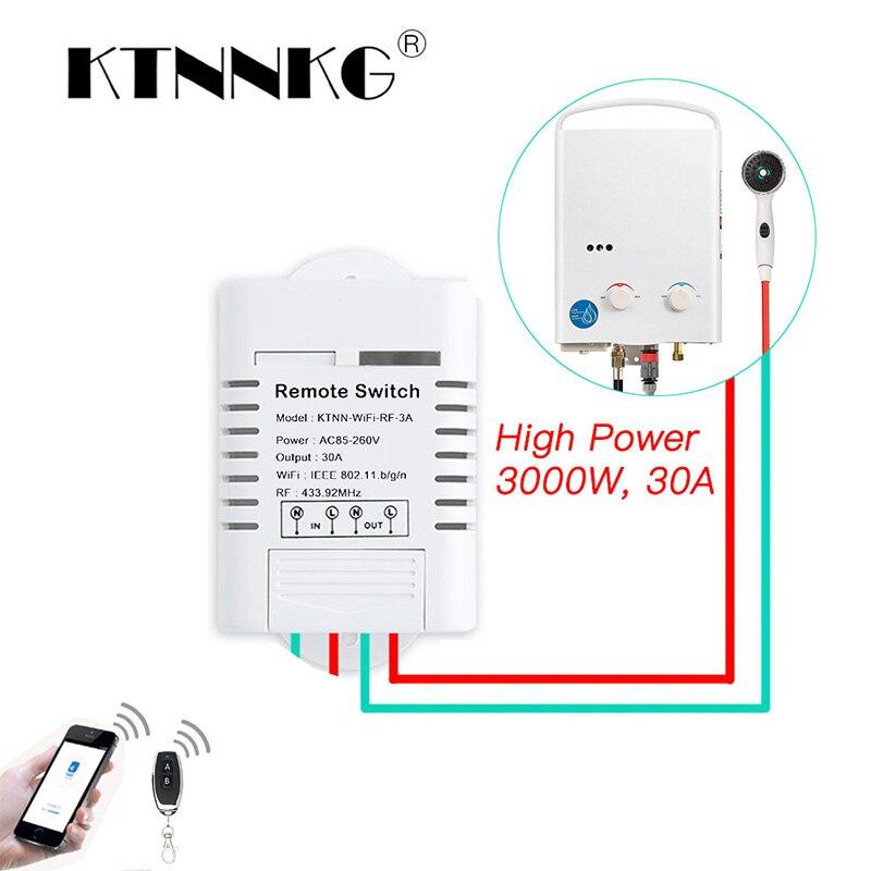 30A Wifi ממסר מתג AC 110 v 220 v 1CH DIY אוטומציה מודולים חכם בית מקלט אוניברסלי Ev1527 433 mhz RF משדר