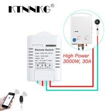 30A Wifi ממסר מתג AC 110V 220V 1CH DIY אוטומציה מודולים חכם בית מקלט אוניברסלי Ev1527 433MHz RF משדר